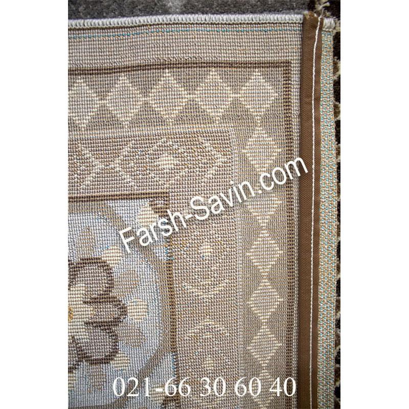 فرش ساوین 7417 نقره ای روشن فرش با کیفیت