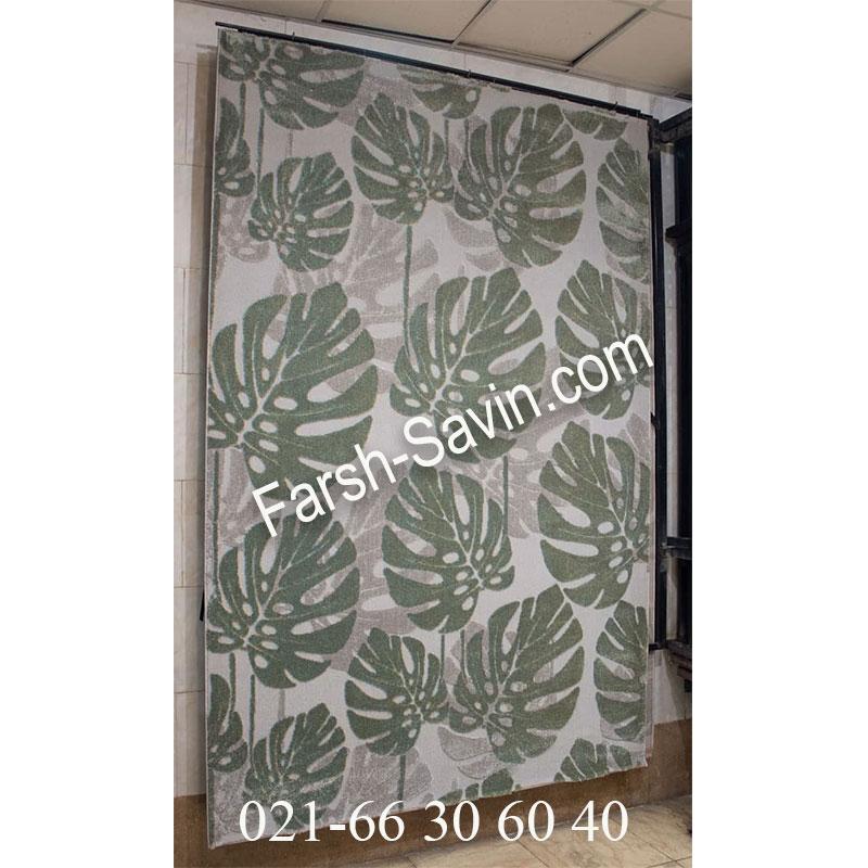 فرش ساوین 7420 نقره ای روشن فرش ارزان