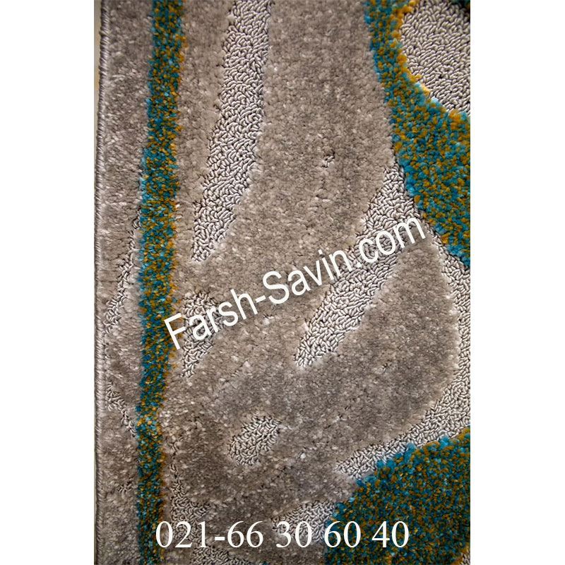 فرش ساوین 7420 نقره ای روشن فرش با کیفیت
