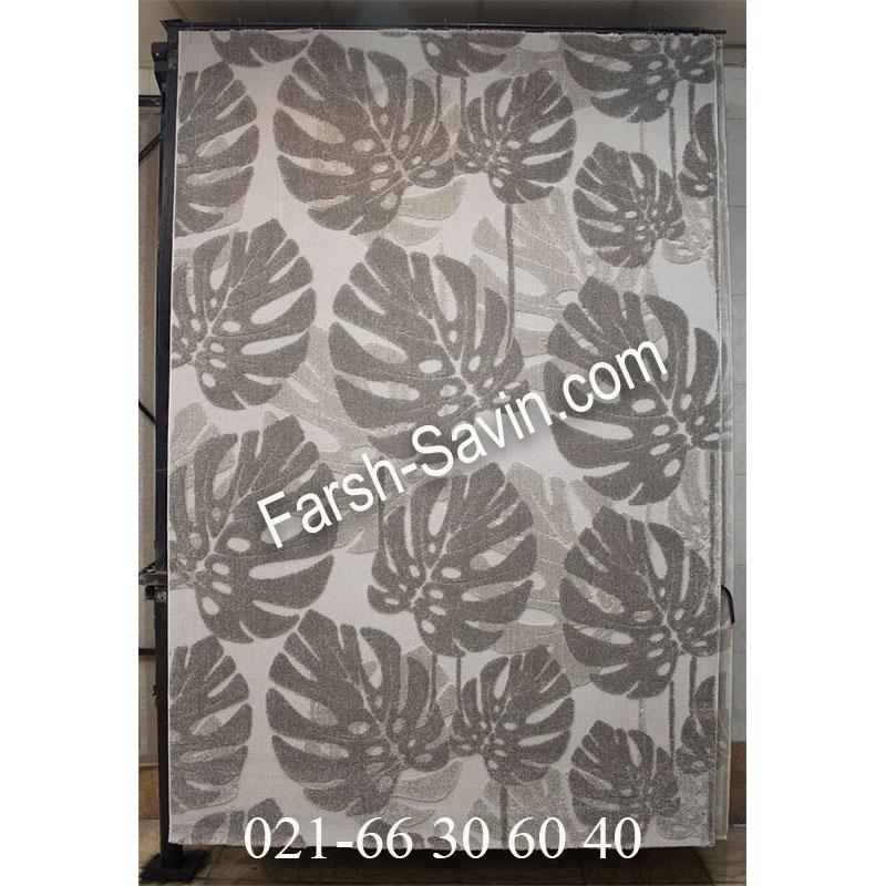 فرش ساوین 7420 طوسی فرش پرفروش