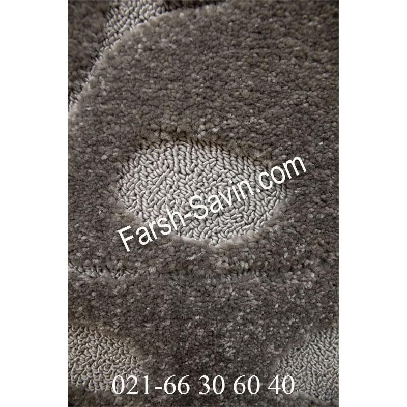 فرش ساوین 7420 طوسی فرش فانتزی