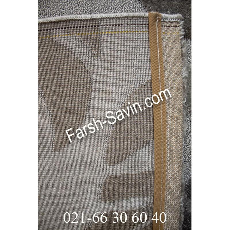 فرش ساوین 7420 طوسی فرش مدرن
