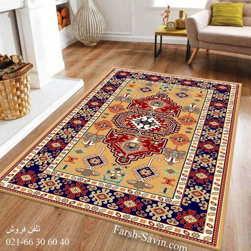 فرش ساوین طوبی 2 عسلی فرش گبه