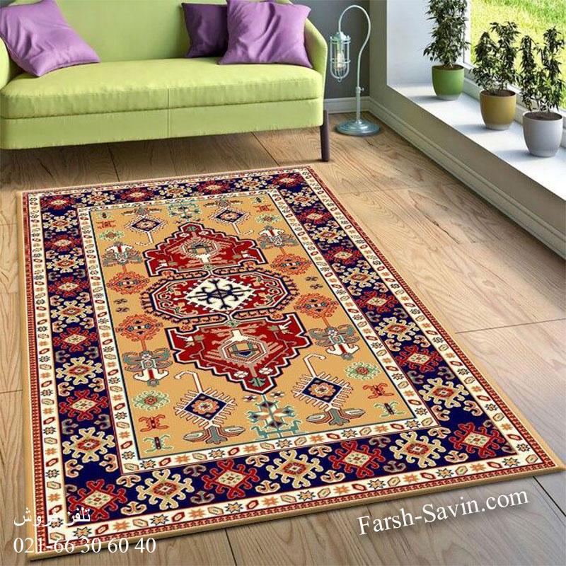 فرش ساوین طوبی 2 عسلی فرش خاص