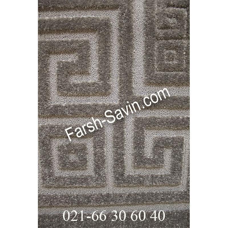فرش ساوین ورساچه طوسی فرش پرفروش