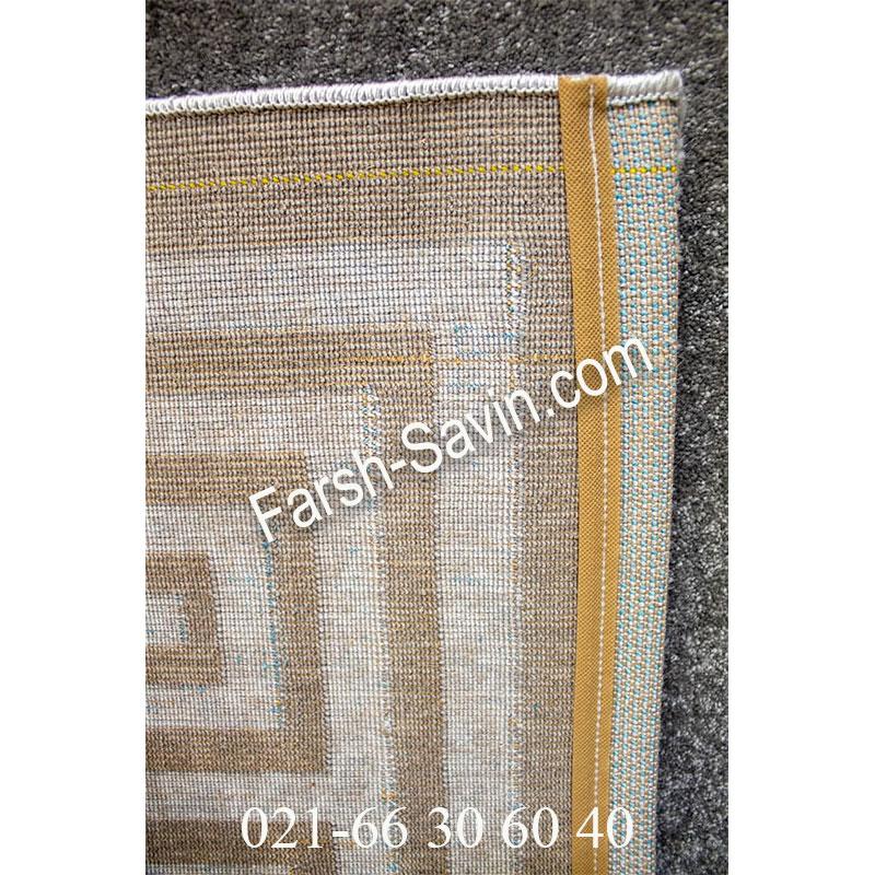 فرش ساوین ورساچه طوسی فرش اتاق خواب