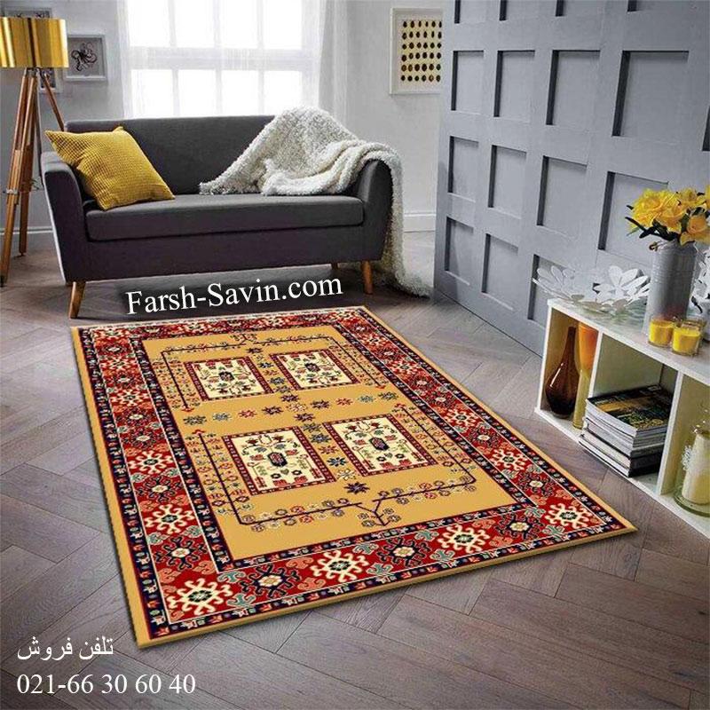 فرش ساوین قشقایی 2 عسلی فرش سنتی