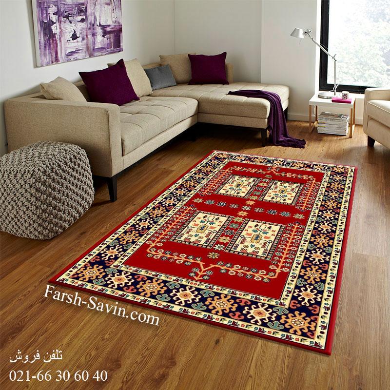 فرش ساوین قشقایی 2 لاکی فرش مناسب اتاق خواب