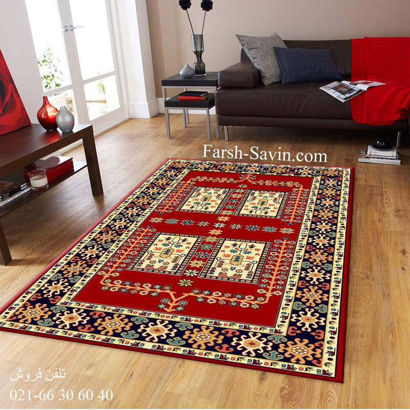 فرش ساوین قشقایی 2 لاکی فرش عشایری