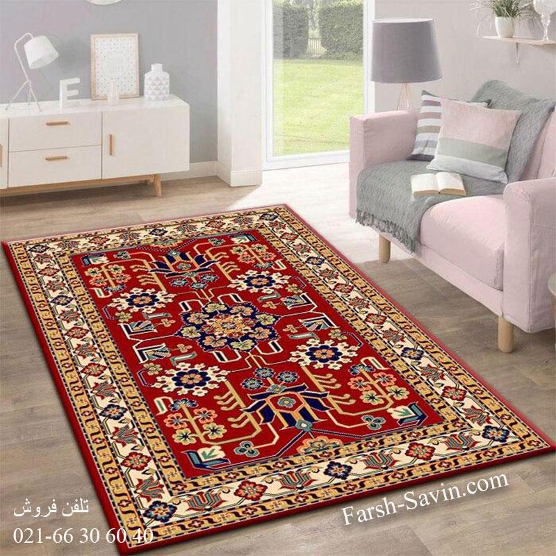 فرش ساوین مهربان 2 لاکی فرش سنتی