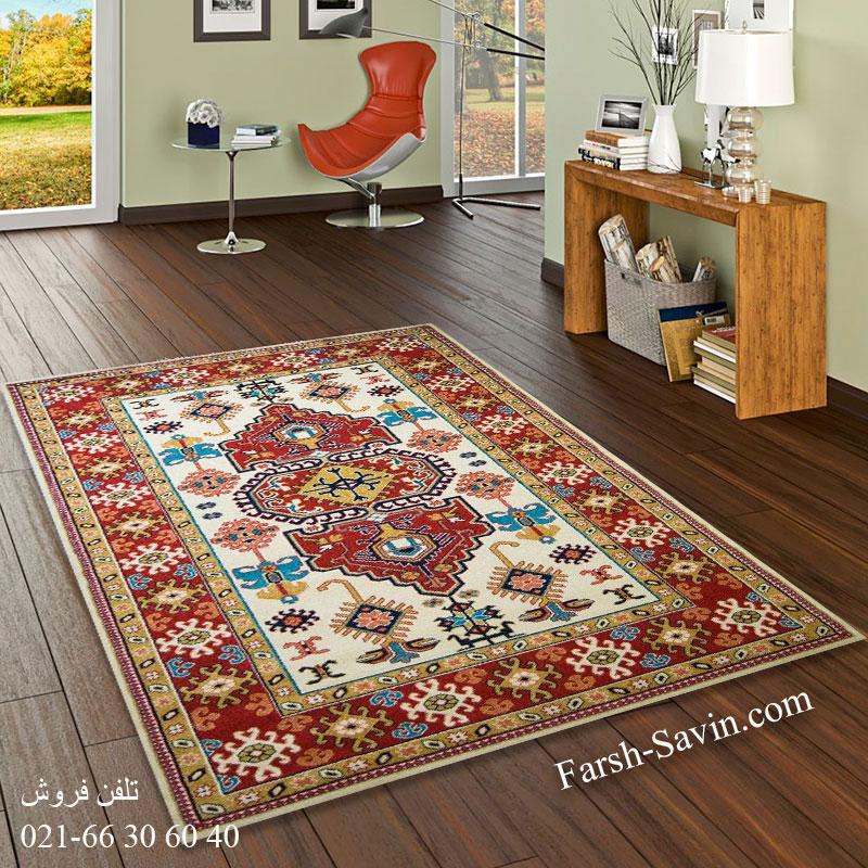 فرش ساوین طوبی کرم فرش گبه