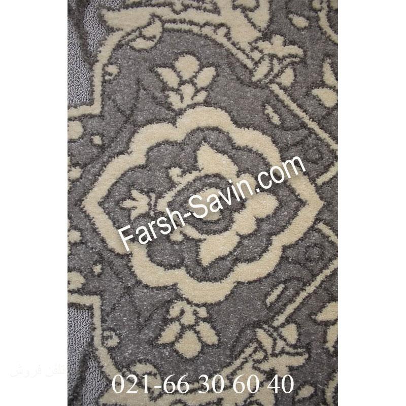 فرش ساوین 7403 نقره ای روشن فرش با کیفیت