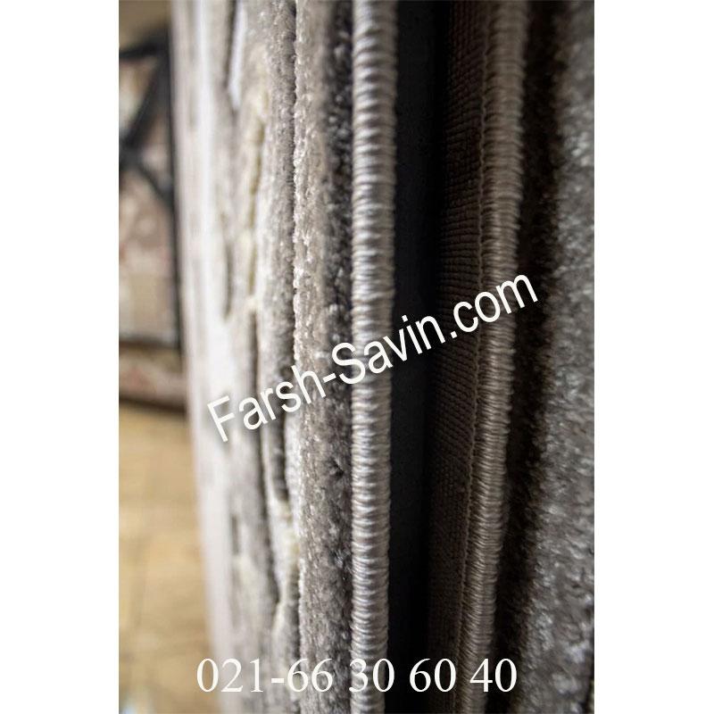 فرش ساوین 7406 نقره ای روشن فرش خاص