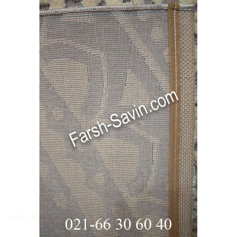 فرش ساوین 7408 نقره ای روشن فرش ارزان