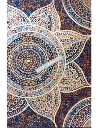 فرش ساوین کد 7261 زمینه قهوه ای مدرن