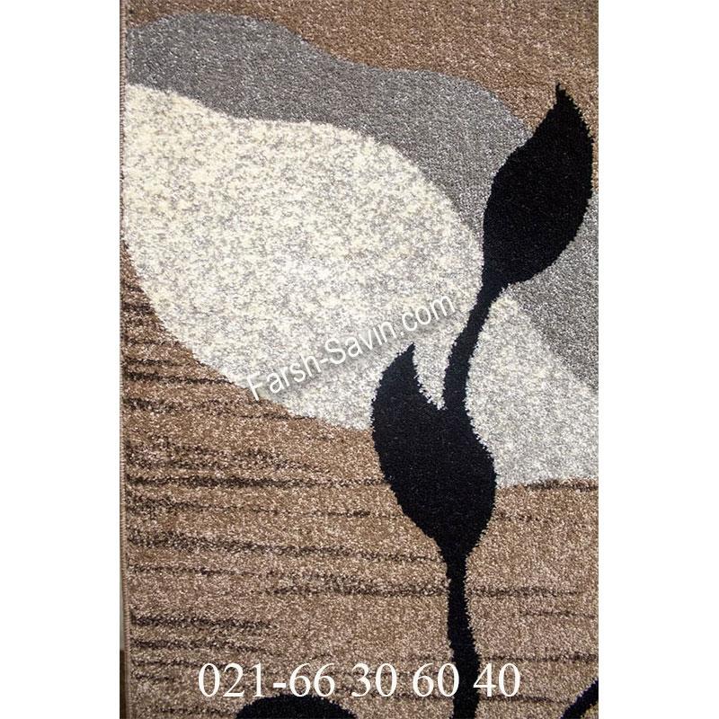 فرش ساوین 4000 شکلاتی فرش با کیفیت