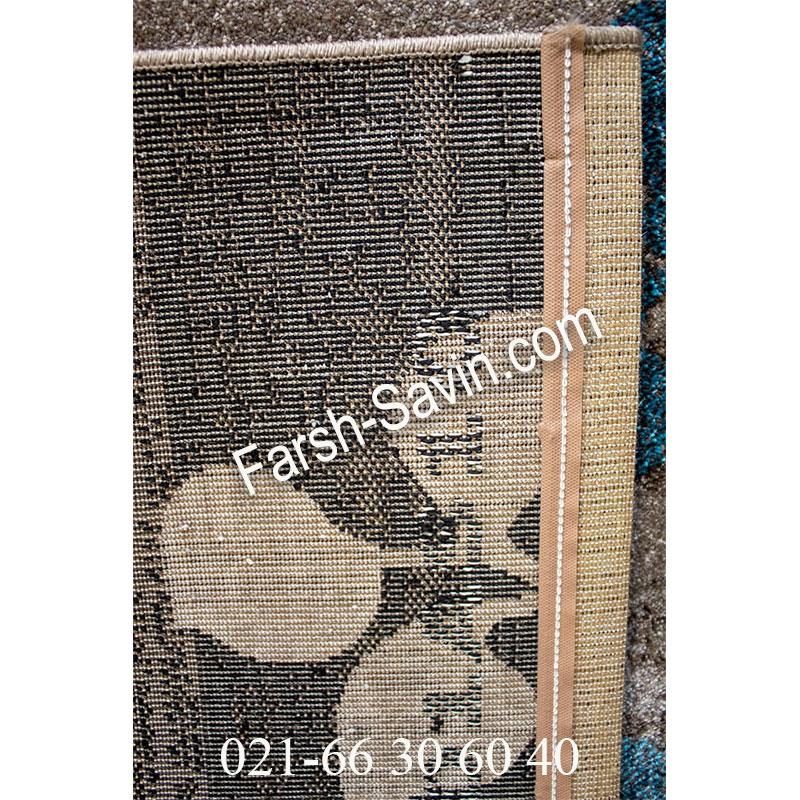 فرش ساوین 4001 شکلاتی فرش اتاق پذیرایی
