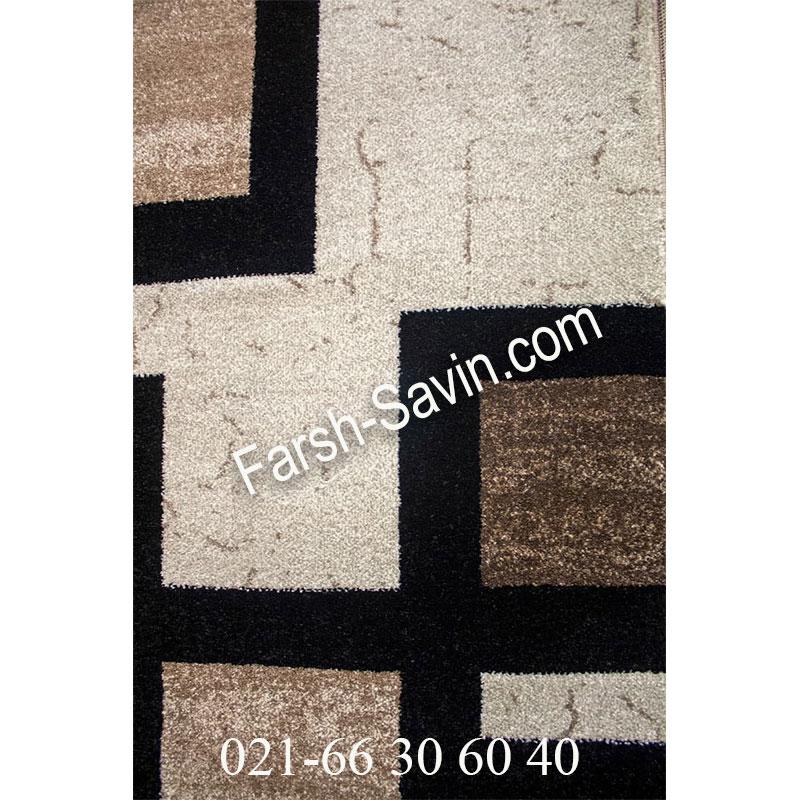 فرش ساوین 4004 کرم فرش گبه