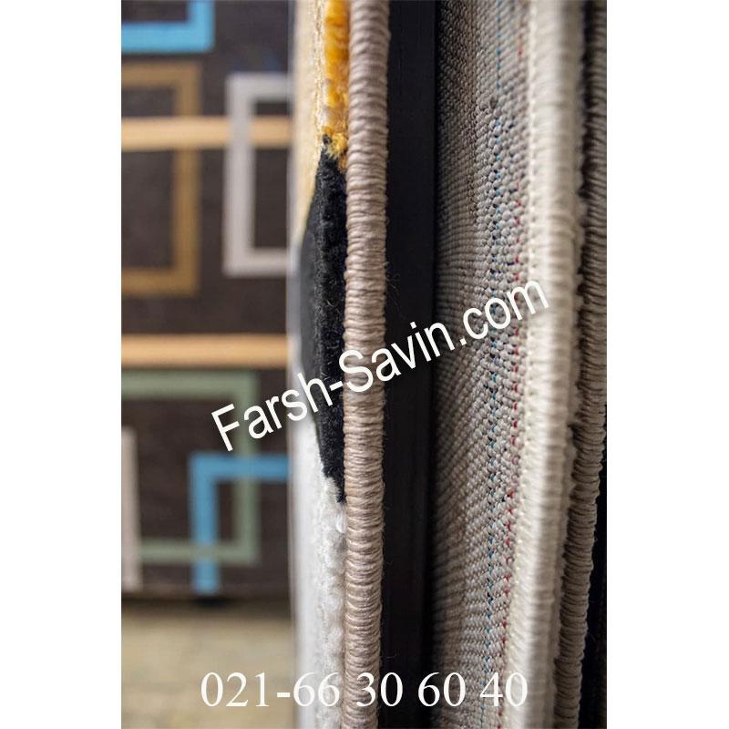 فرش ساوین 4004 کرم فرش اتاق خواب