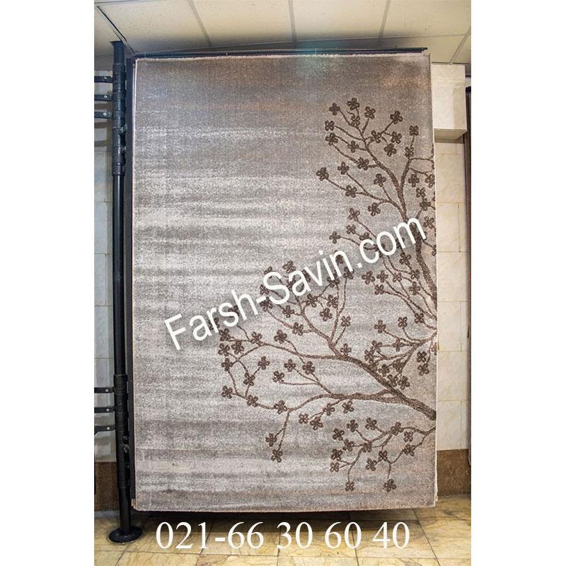 فرش ساوین 4006 نقره ای فرش پرفروش