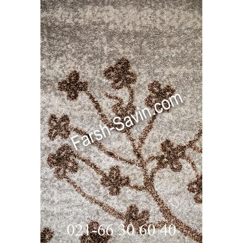 فرش ساوین 4006 نقره ای فرش بادوام