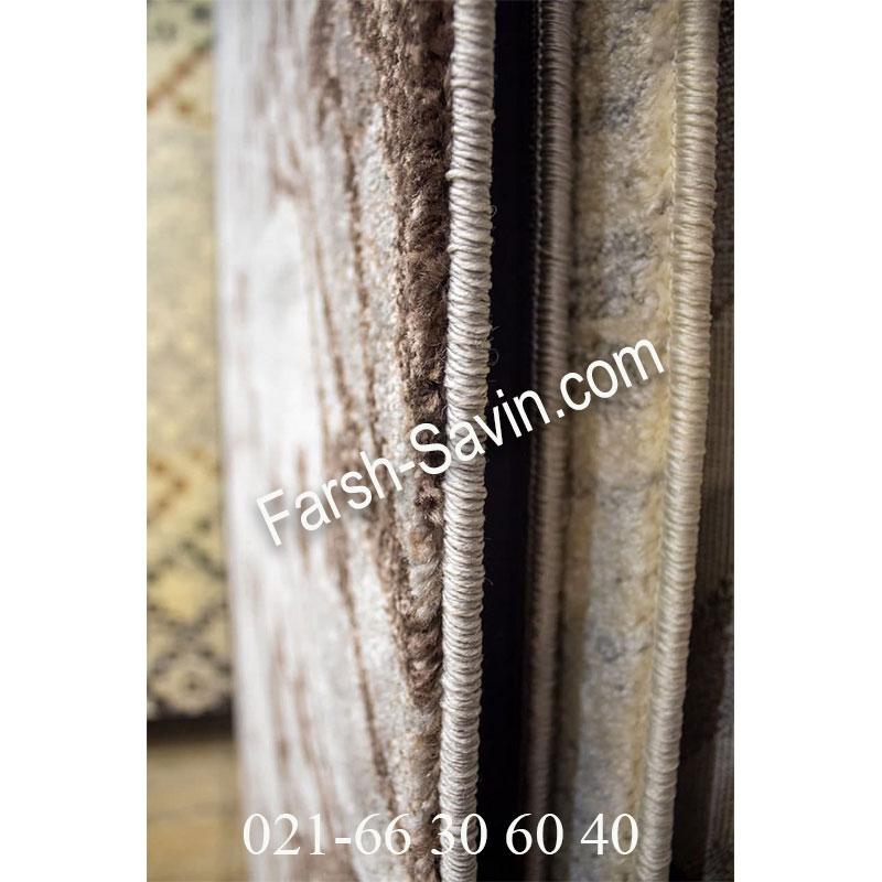 فرش ساوین 4006 نقره ای فرش با کیفیت
