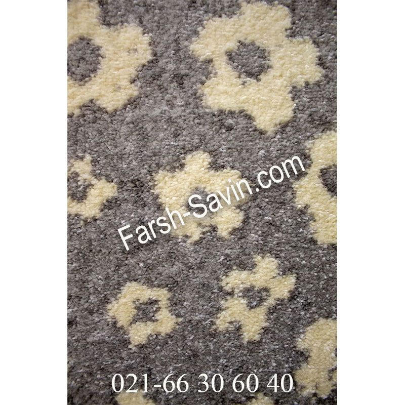فرش ساوین 4007 نقره ای فرش شیک
