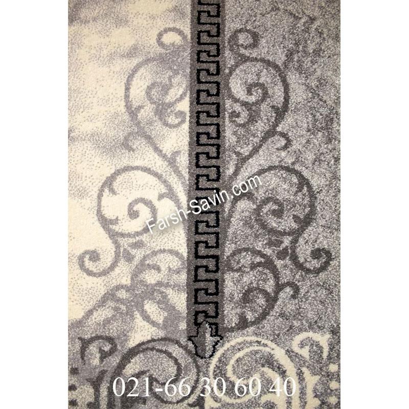 فرش ساوین 4010 نقره ای فرش خاص