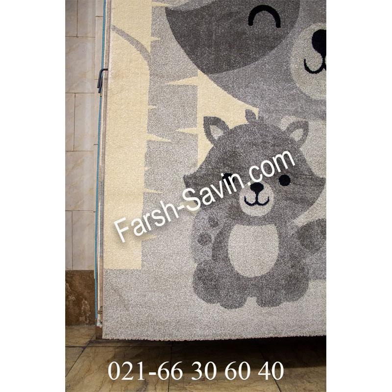 فرش ساوین 4031 کرم فرش خوش نقشه