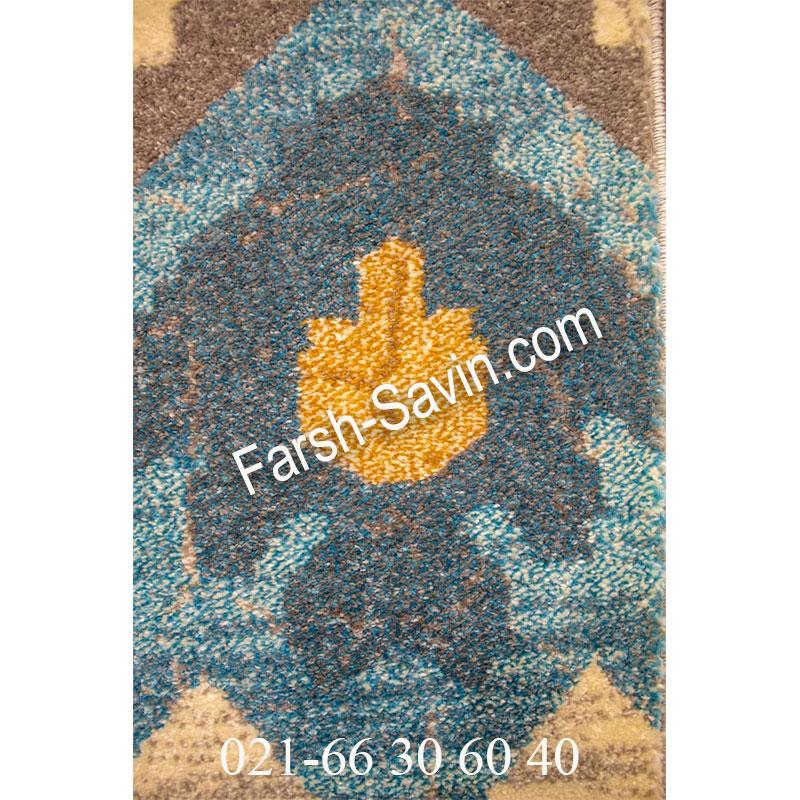 فرش ساوین 4033 کرم فرش ارزان