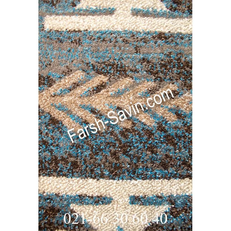 فرش ساوین 4036 آبی فرش آبی