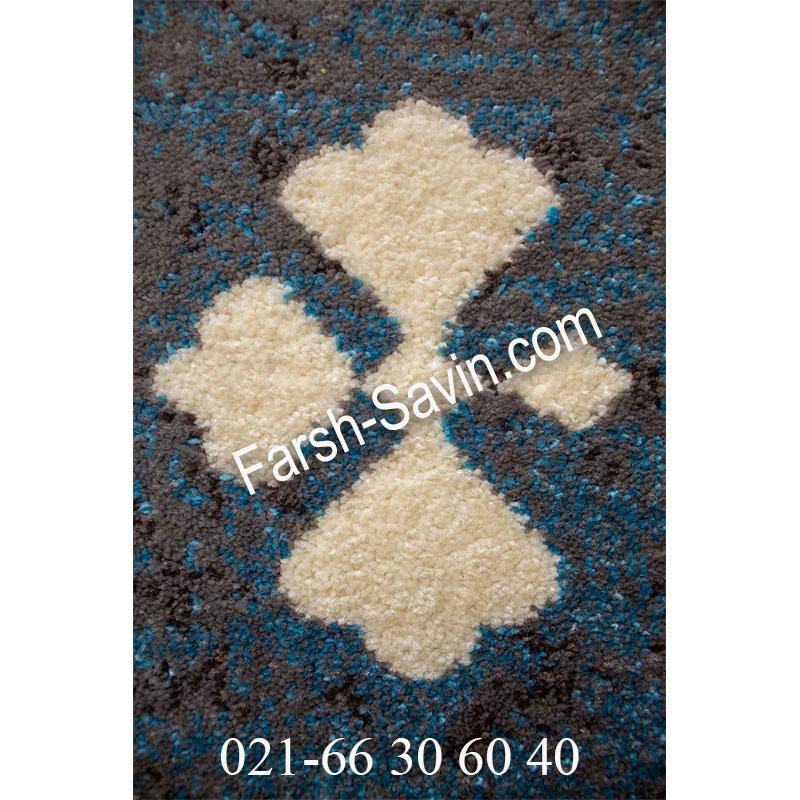 فرش ساوین 4036 آبی فرش مقاوم