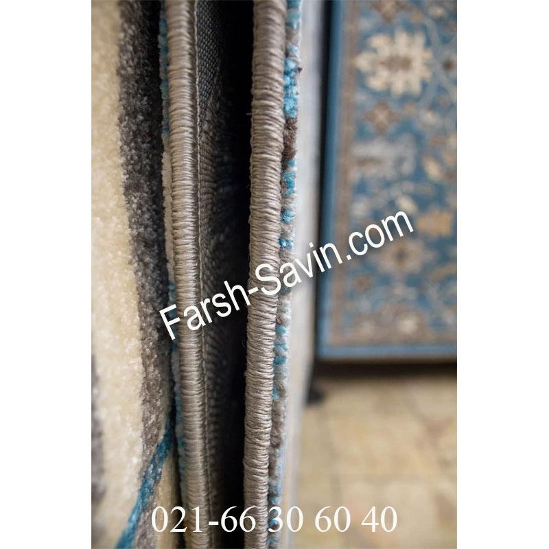 فرش ساوین 4036 آبی فرش ارزان