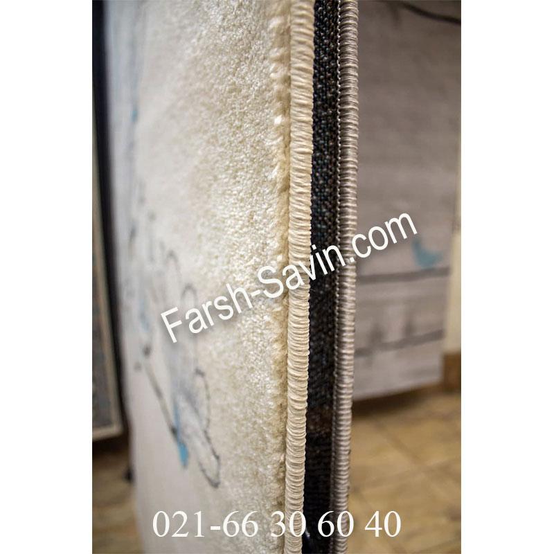 فرش ساوین 4037 کرم فرش خاص