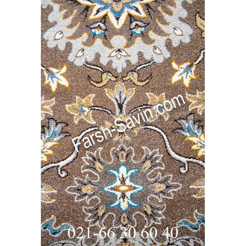 فرش ساوین 4041 شکلاتی فرش با کیفیت