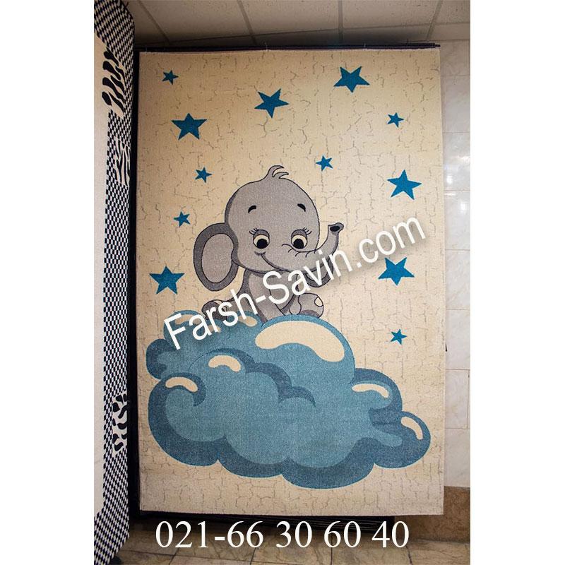 فرش ساوین 4049 کرم فرش پرفروش