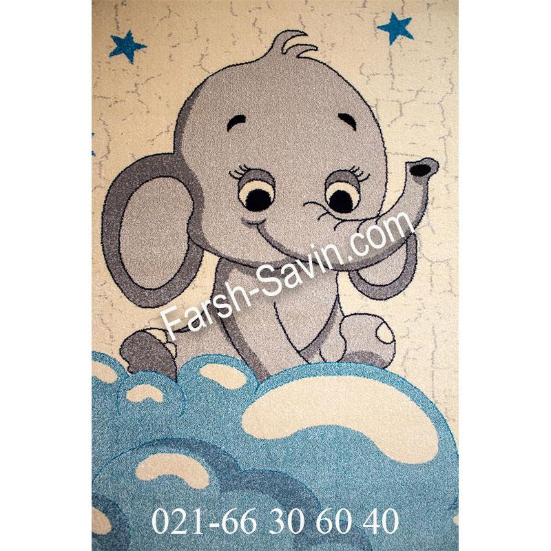 فرش ساوین 4049 کرم فرش کودک