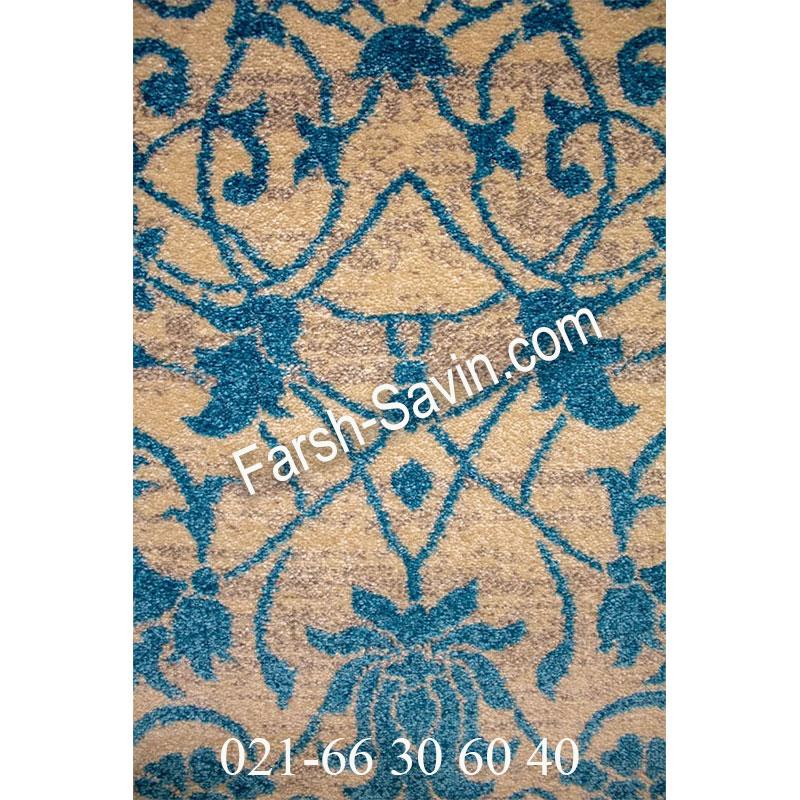 فرش ساوین 4052 کرم فرش مدرن