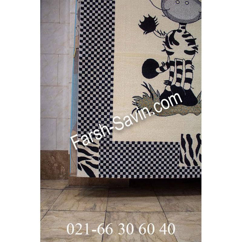 فرش ساوین 4057 کرم فرش زیبا