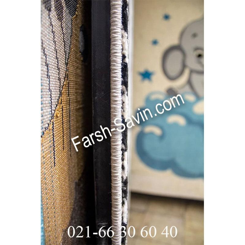 فرش ساوین 4057 کرم فرش خوش نقش