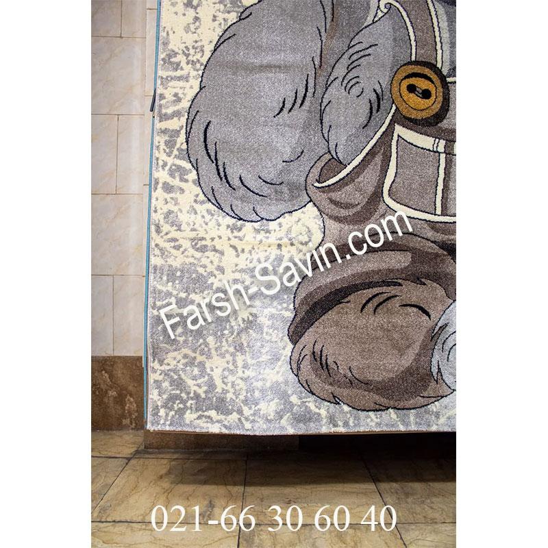 فرش ساوین 4059 کرم فرش زیبا