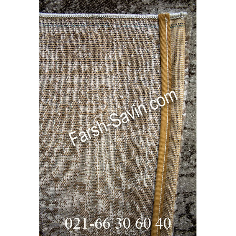 فرش ساوین 4062 نقره ای مشکی فرش شیک