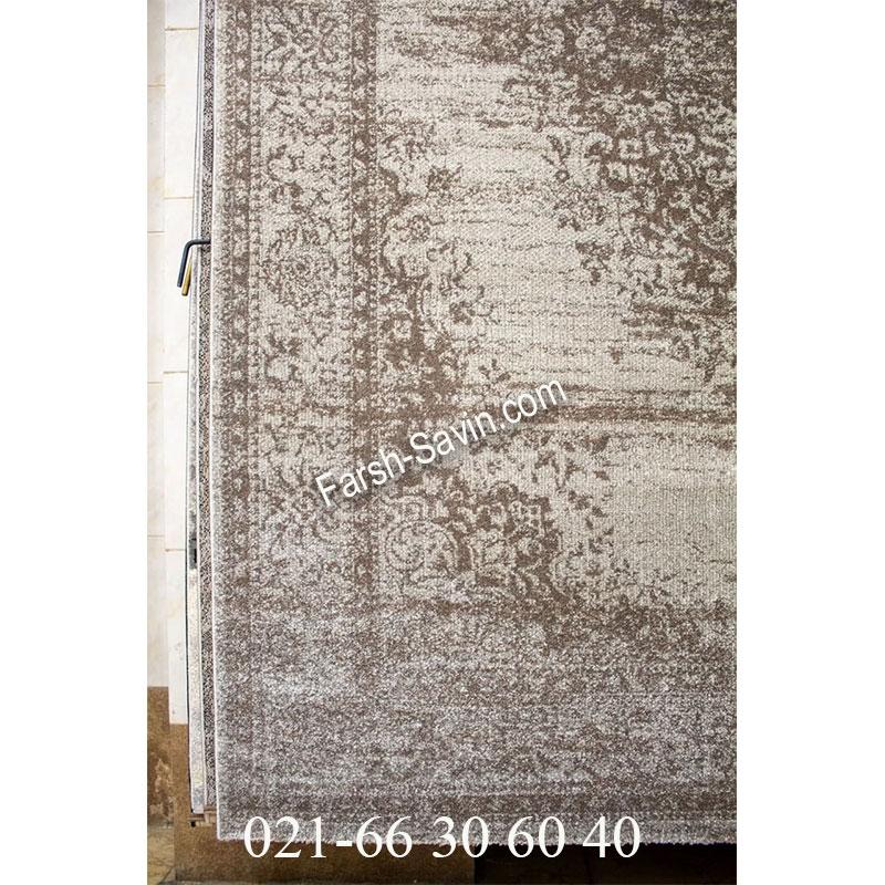 فرش ساوین 4062 نقره ای فرش پذیرایی