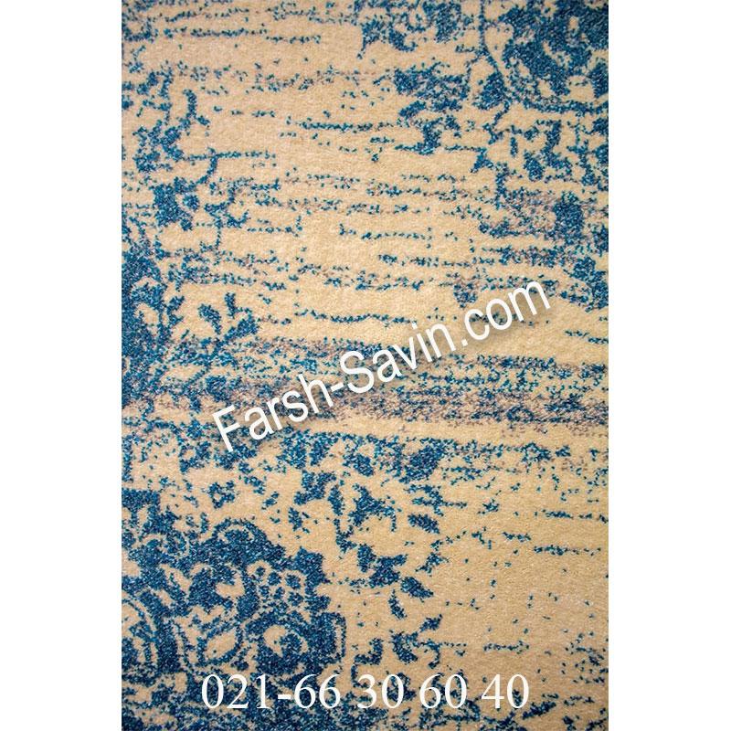 فرش ساوین 4062 کرم فرش ارزان