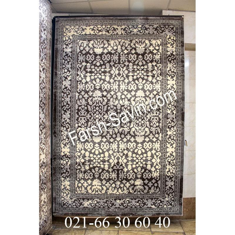 فرش ساوین 4068 طوسی فرش زیبا