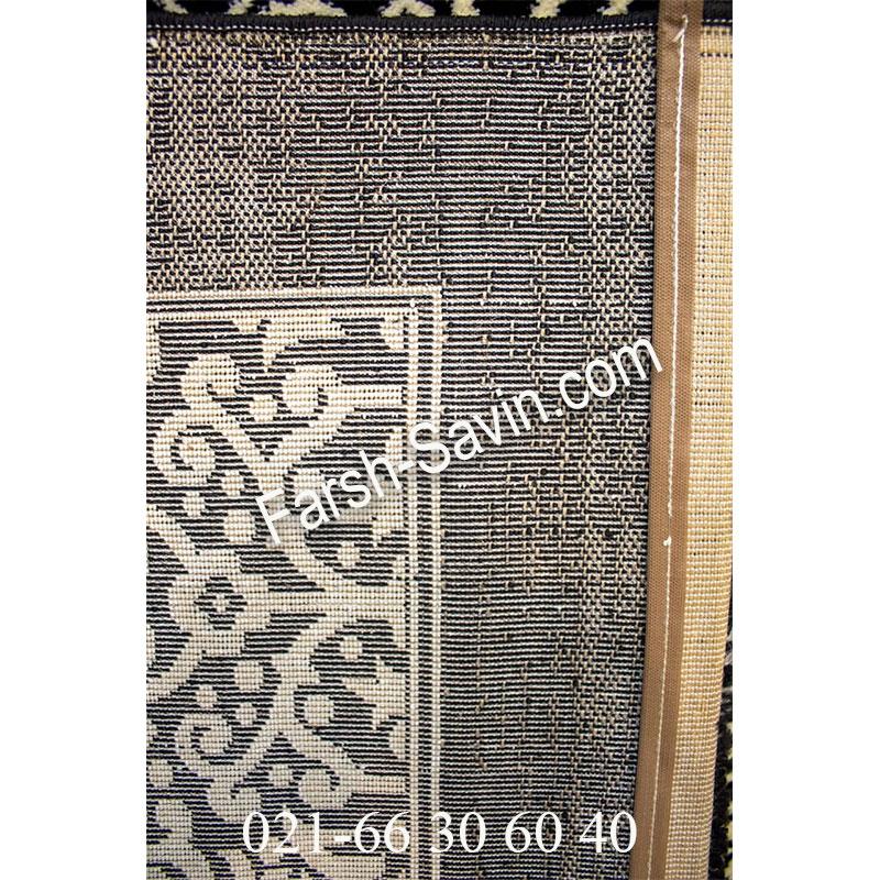 فرش ساوین 4069 مشکی فرش خوش نقش