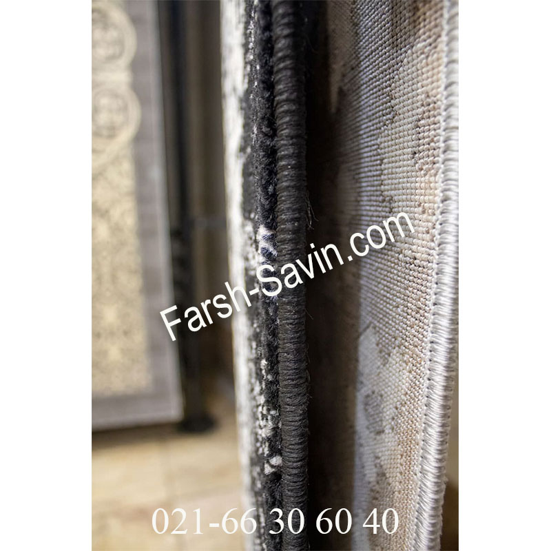 فرش ساوین 4069 مشکی فرش ارزان