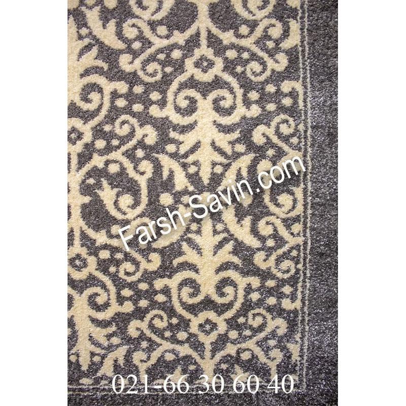 فرش ساوین 4069 طوسی فرش ارزان