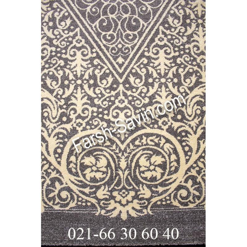 فرش ساوین 4069 طوسی فرش آشپزخانه