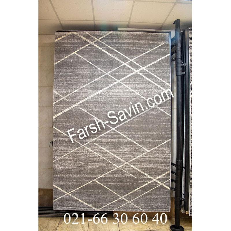 فرش ساوین 4083 طوسی فرش خوش نقش
